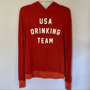 "NWOT Wildfox ""USA DRINKING TEAM"" hoodie."
